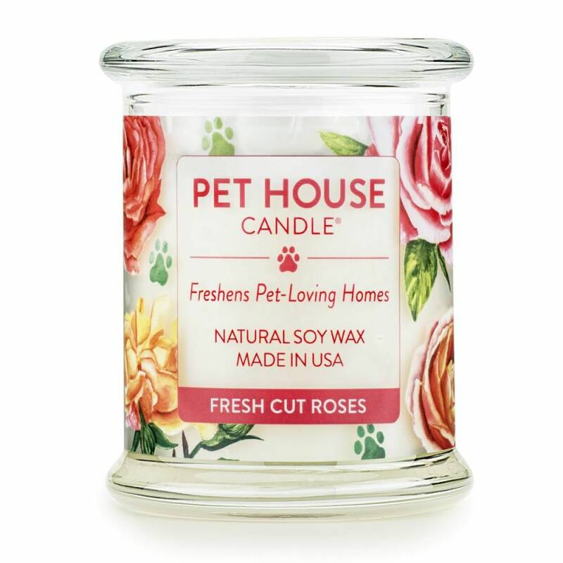 Pet House Candle | Fresh cut roses