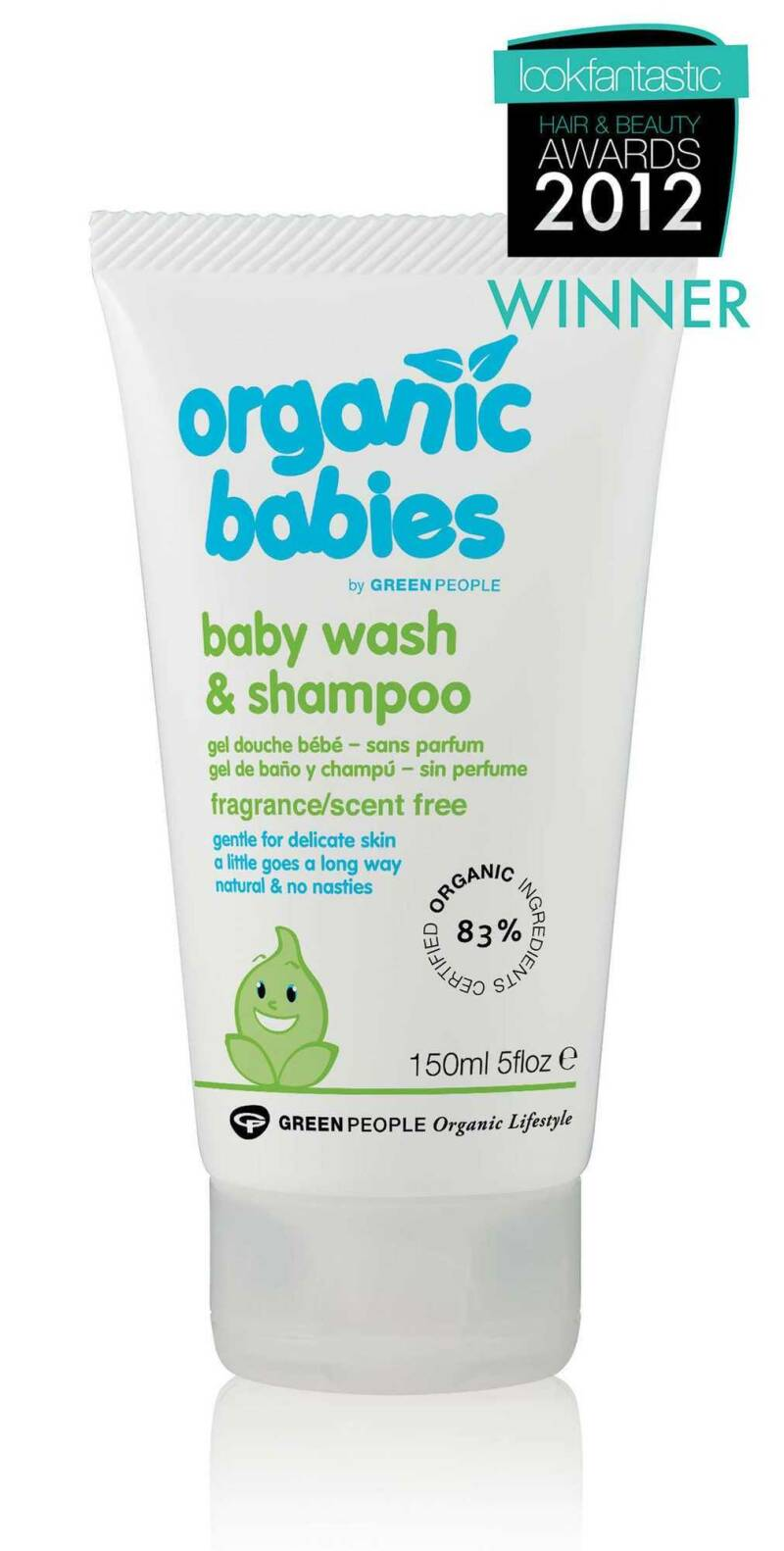 Green People Baby Wash & Shampoo Scent Free 150ml