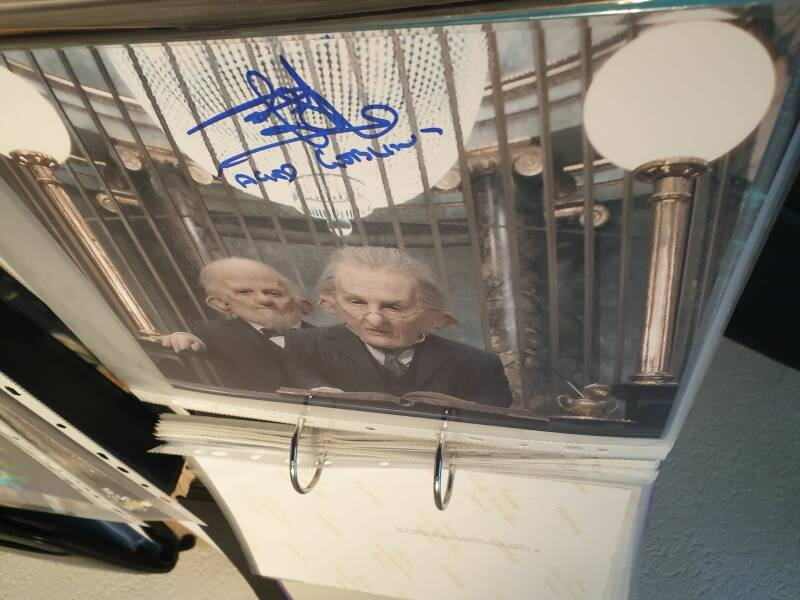 Signed Autographic: Rusty Goffe - Gringotts Goblin