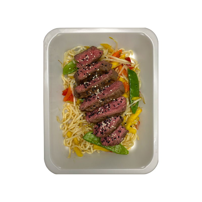 BEEF NOODLE - Beef/Tempeh (HIGH CARB)