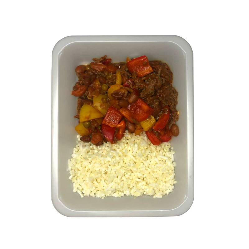 CHILI CON CARNE Cauliflower rice // Beef or Vega - LOW CARB