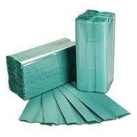 1 PLY Green C Fold Hand Towels