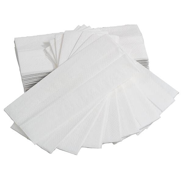 2 PLY White C Fold Hand Towels