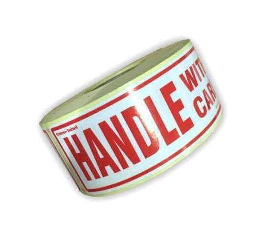 HANDLE WITH CARE Parcel Labels