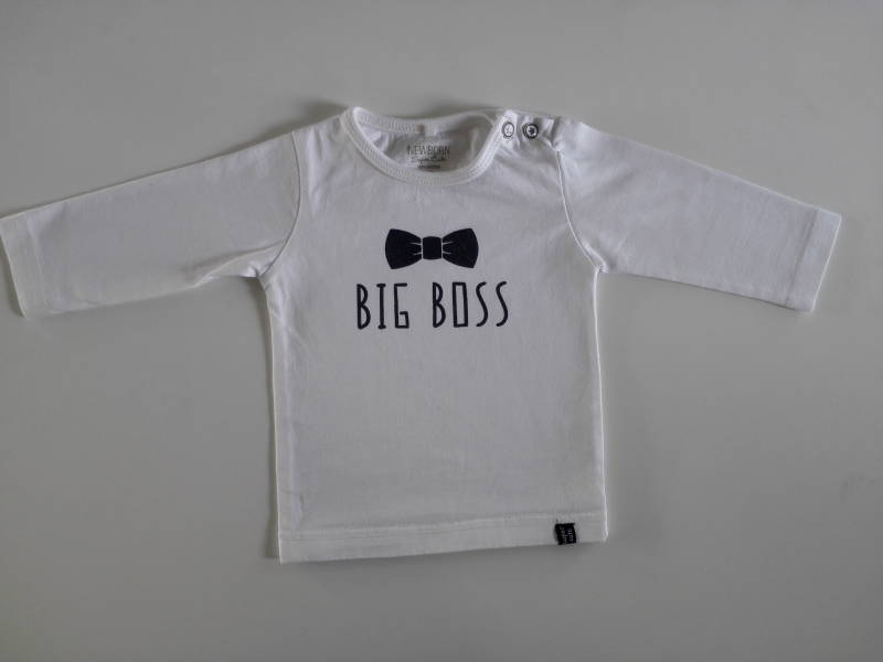 Wit shirt Newborn