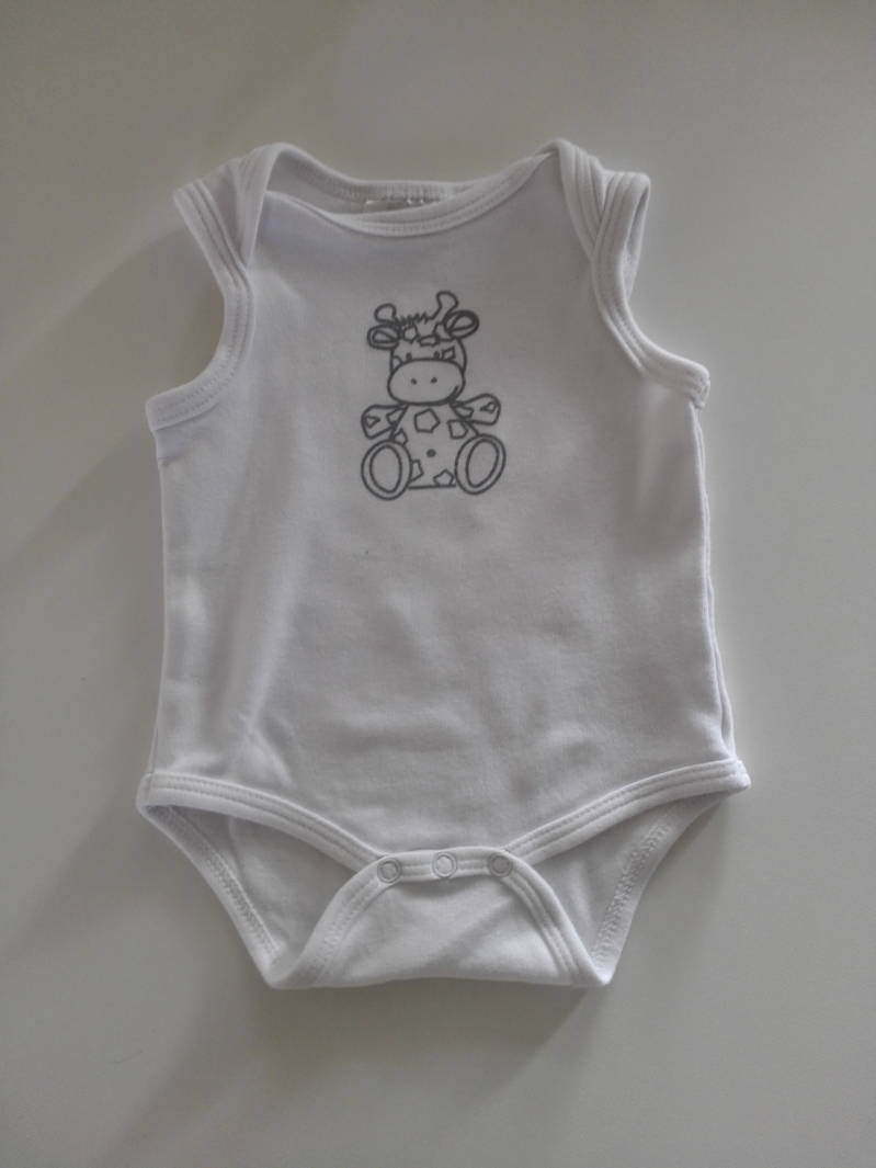 Witte romper giraffe BD Collection