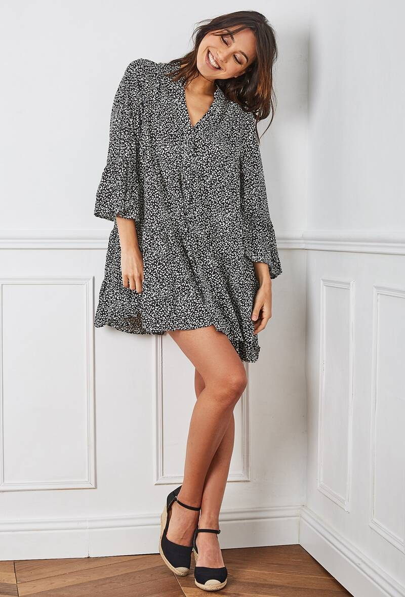 Flared tunic dress