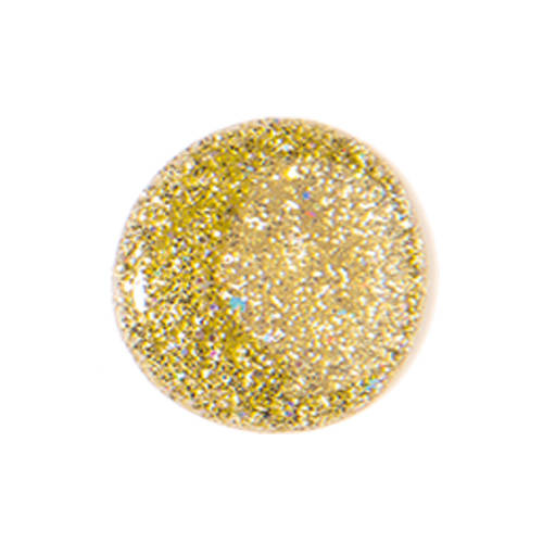 Nail lacquer gel finish SPARKLING GOLD