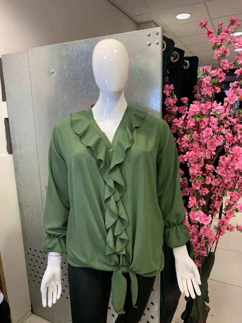 Blouse met rouches
