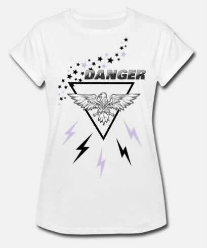 T-shirt - zwart/wit Danger