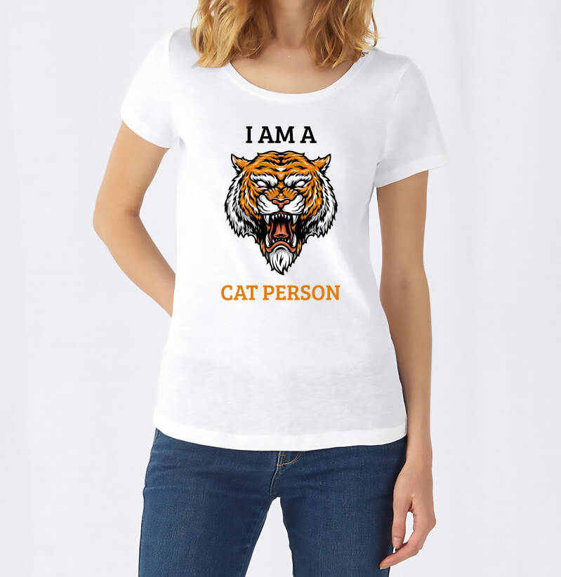 Vrouwen T-Shirt Cat Person