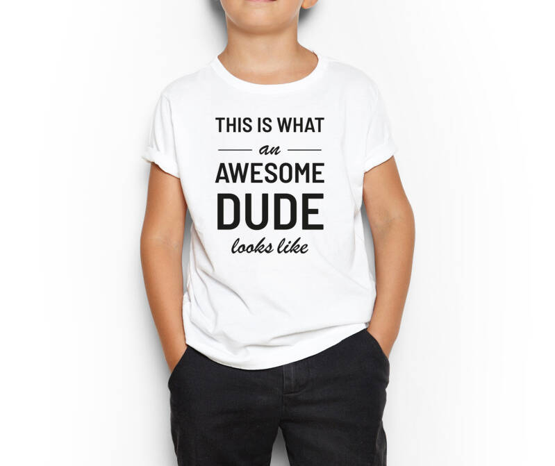 Kinder T-Shirt Awesome Dude