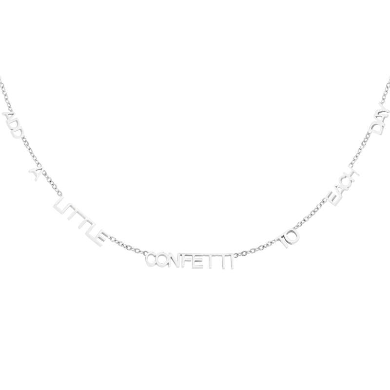 Ketting Add A Little Confetti To Each Day - zilver