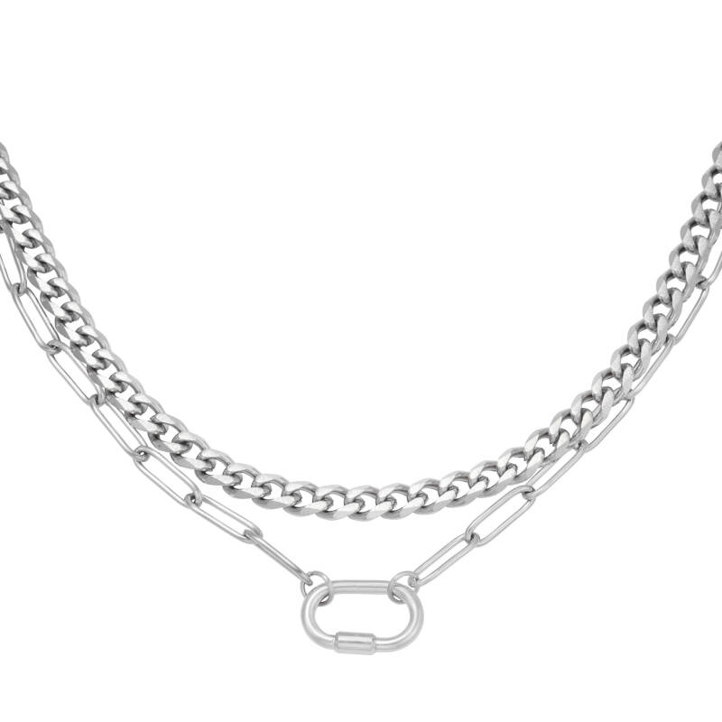Ketting Two in one chain - zilver