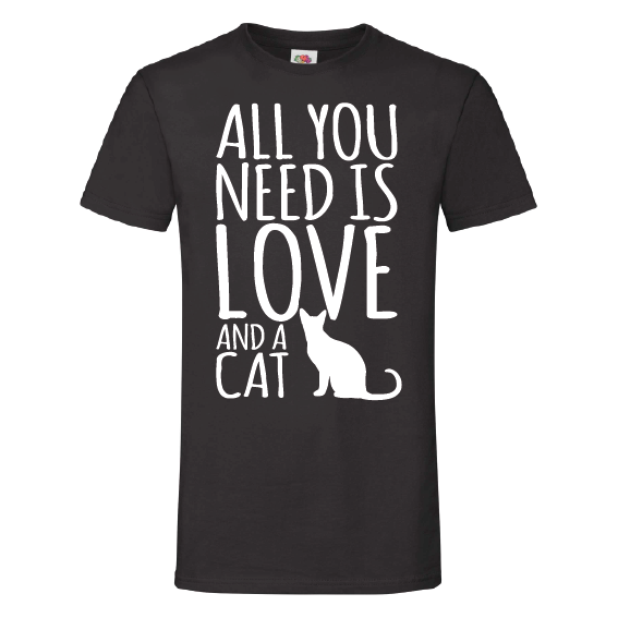 Katten t-shirts | All you need is love and a cat