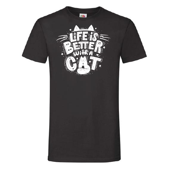 Katten t-shirts | Life is better with a cat