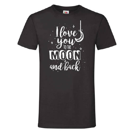 Valentijn t-shirt   to the moon and back