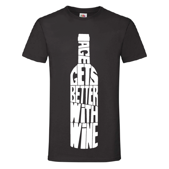 Wijn t-shirts | Age gets better with wine