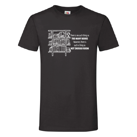Boeken t-shirts | Too many books, not enough room