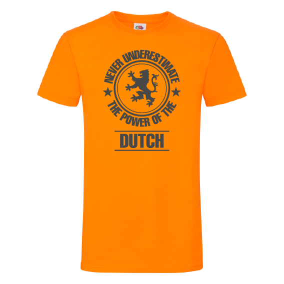 Oranje t-shirts | The power of the Dutch