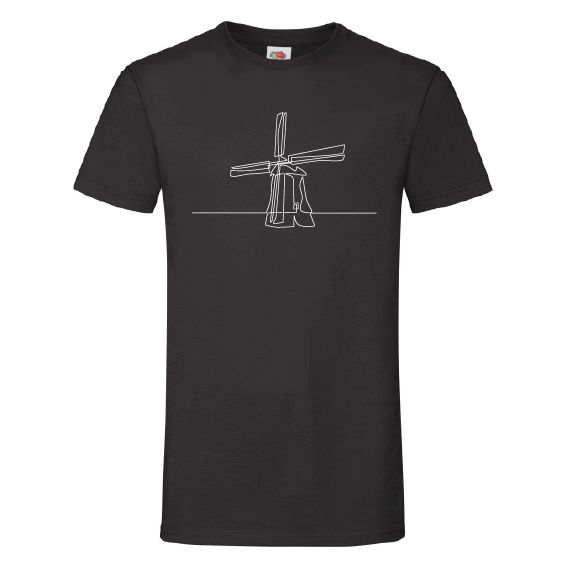 Dutchie t-shirts | Lijntekening Dutch icons