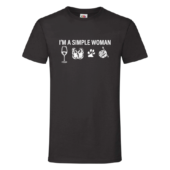 Wijn t-shirts | Simple woman