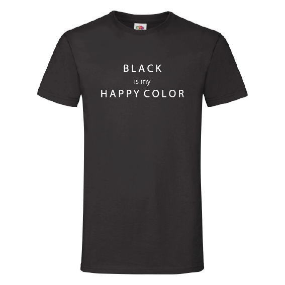 Kleuren t-shirts | Black is my happy color