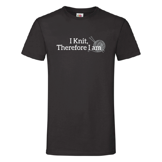 Handwerk t-shirts | I knit, therefore I am