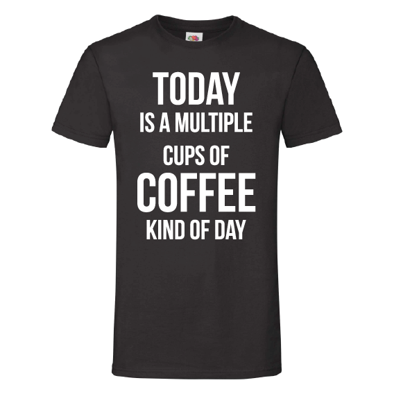 Koffie t-shirts | Multiple cups of coffee