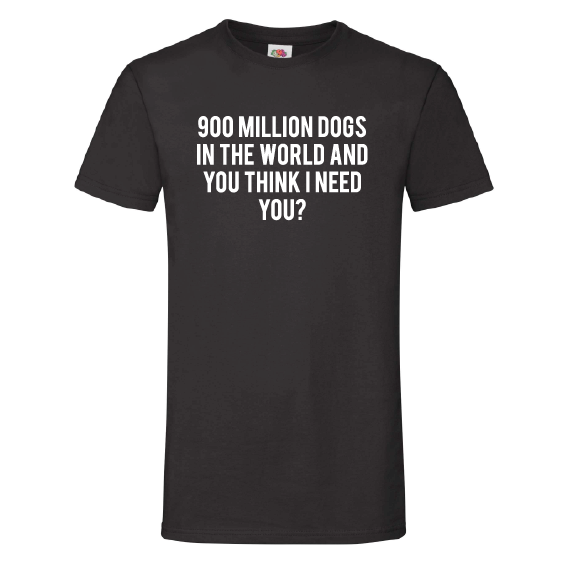 Honden t-shirts | 900 million dogs