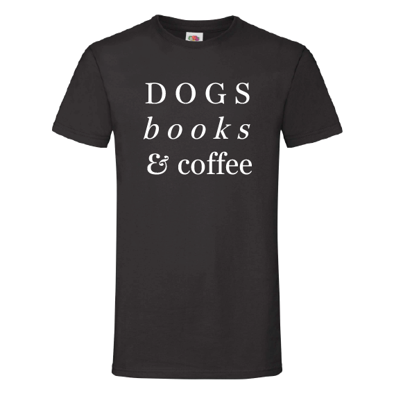 Honden t-shirts | Dogs, Books & Coffee