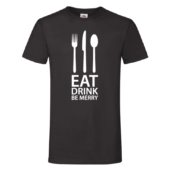 Food t-shirts | Eat drink be merry