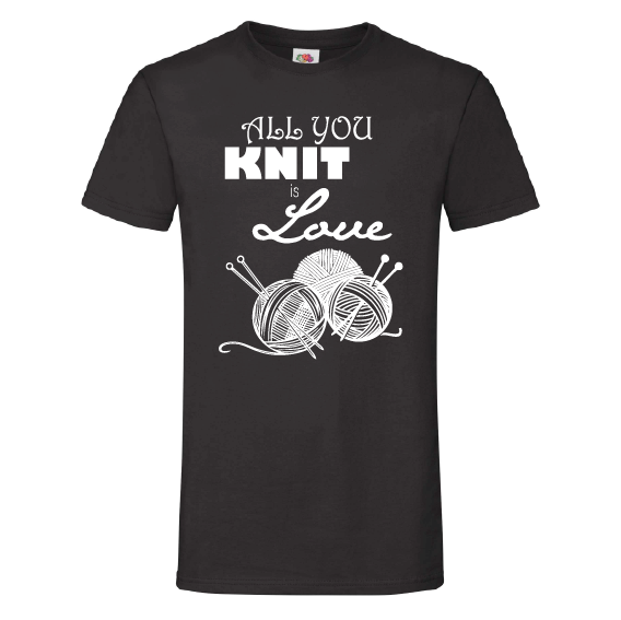 Handwerk t-shirts | All you knit is love