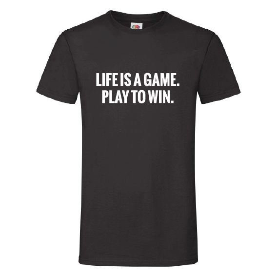 Quote t-shirts | Life is a game