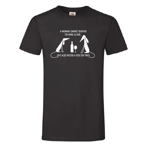 Honden t-shirts | Surviving on wine and dogs