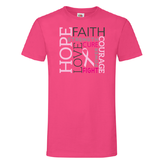 Pink Ribbon t-shirts | Hope Faith Love Strenght