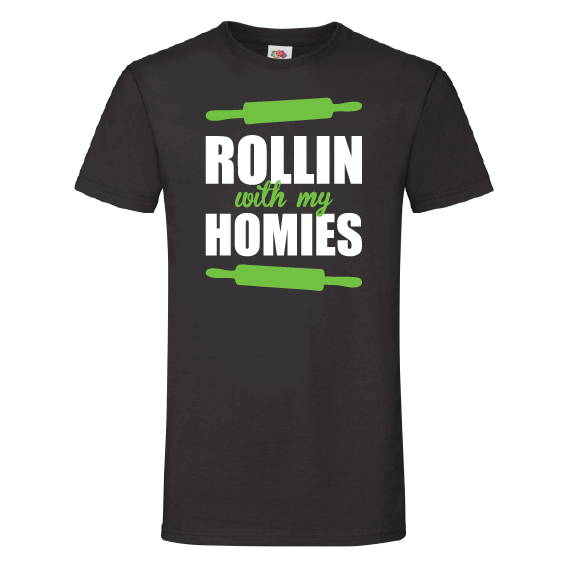 Food t-shirts | Rollin' with my homies