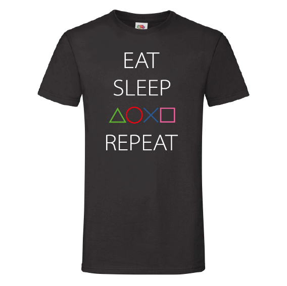 Game t-shirts | Eat sleep game repeat