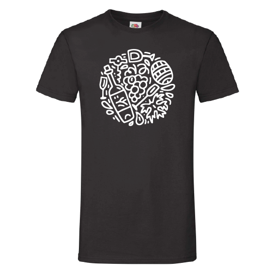 Wijn t-shirts | Wine doodles