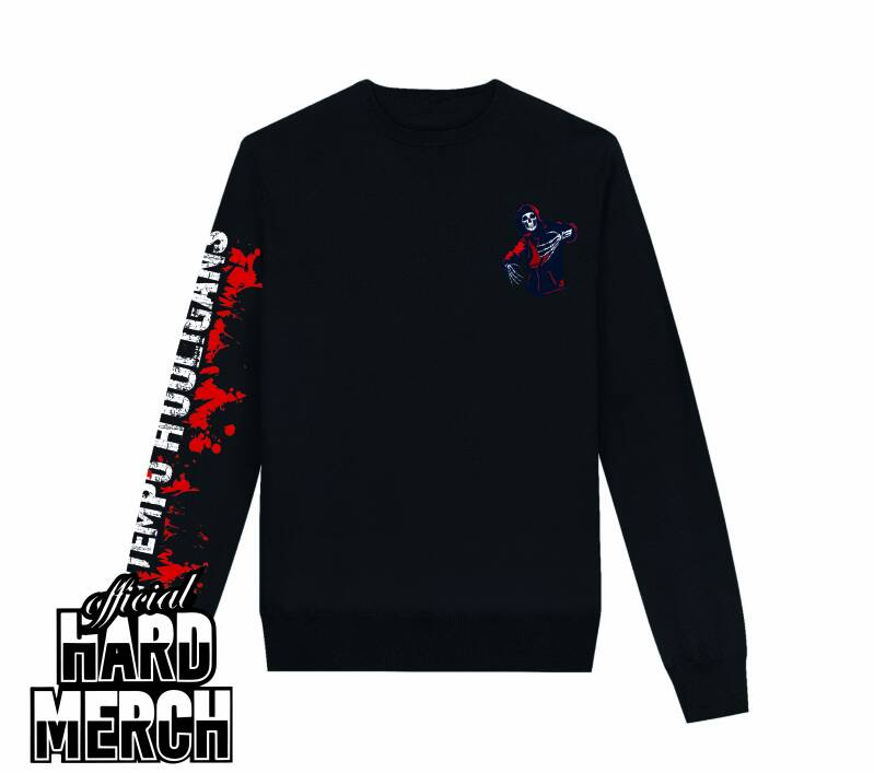Hooligan hardcore side print - sweater