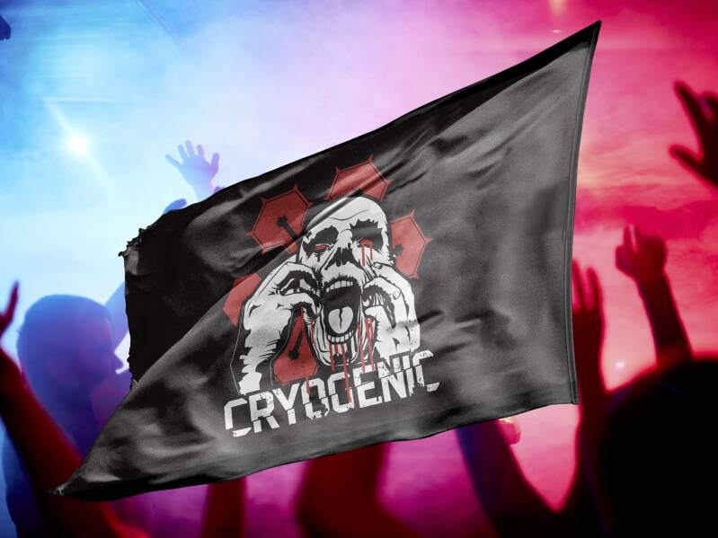 CRYOGENIC Flag Red NEW STOCK