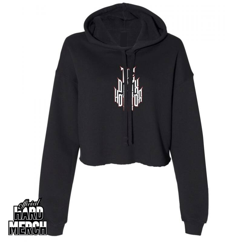 The Dark Horror MASSIVE BASS Cropped Hoodie