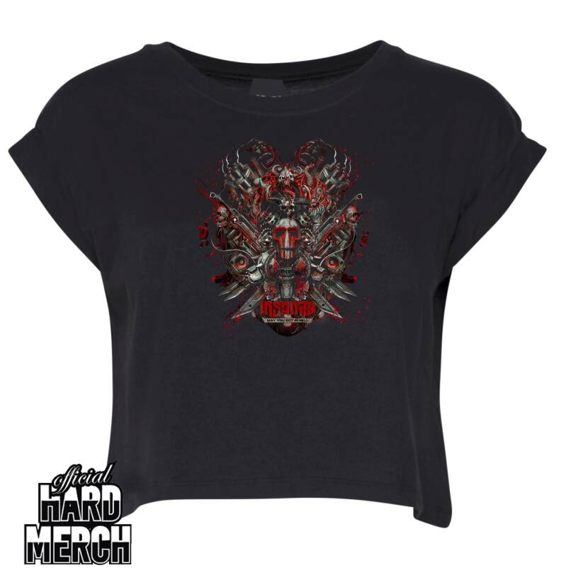 Insanity - Big logo - May you rot in hell - Crop top