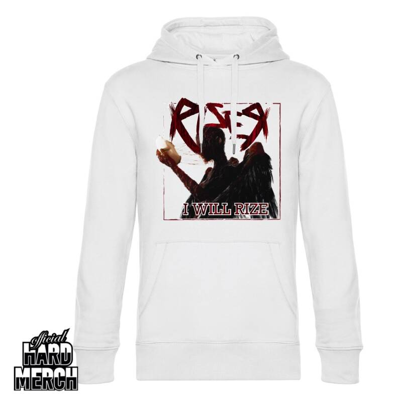 I will rize hoodie white