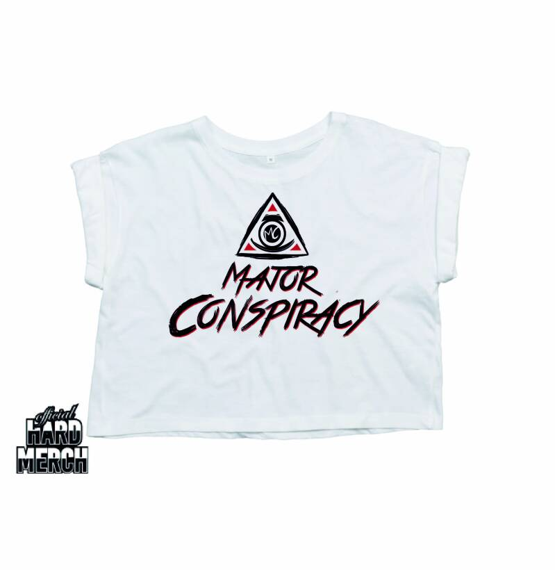 Major Conspiracy White style Crop Top