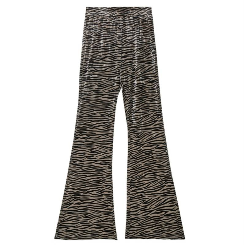 Flared pants zebra