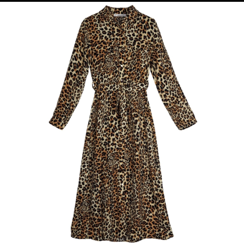 Leopard maxidress