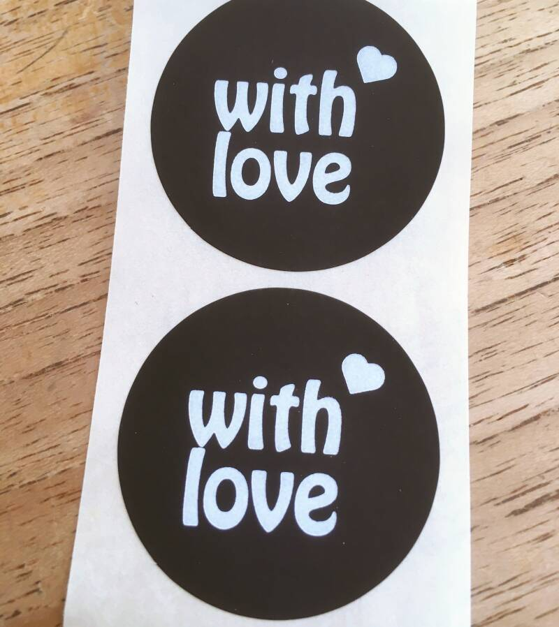 "Luxe cadeau stickers ""With love"""