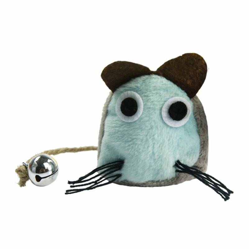Crazy Cat Funny Mouse Blauw