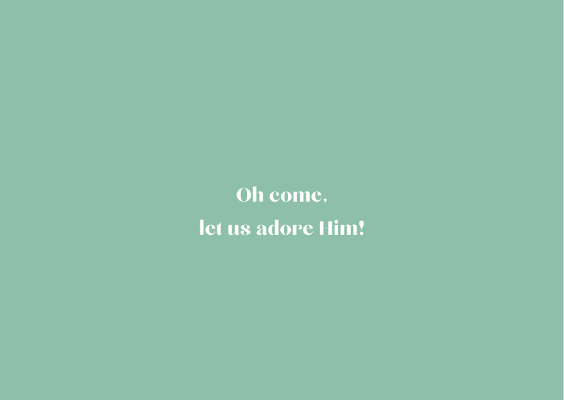 Kerstkaart Oh come, let us adore Him 🌱